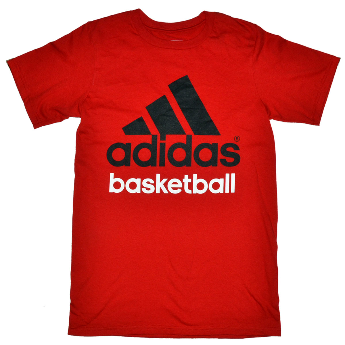 adidas basketball mens red tshirt mycraze