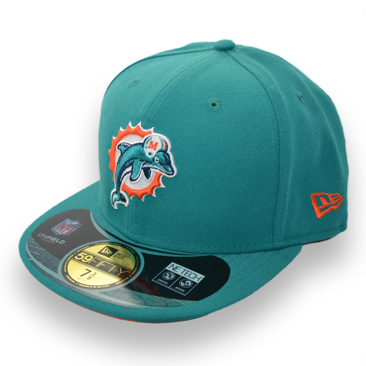 cheaper 14dae 9c110 ... coupon code new era miami dolphins on field nfl fitted cap 7 3 8 58.7cm