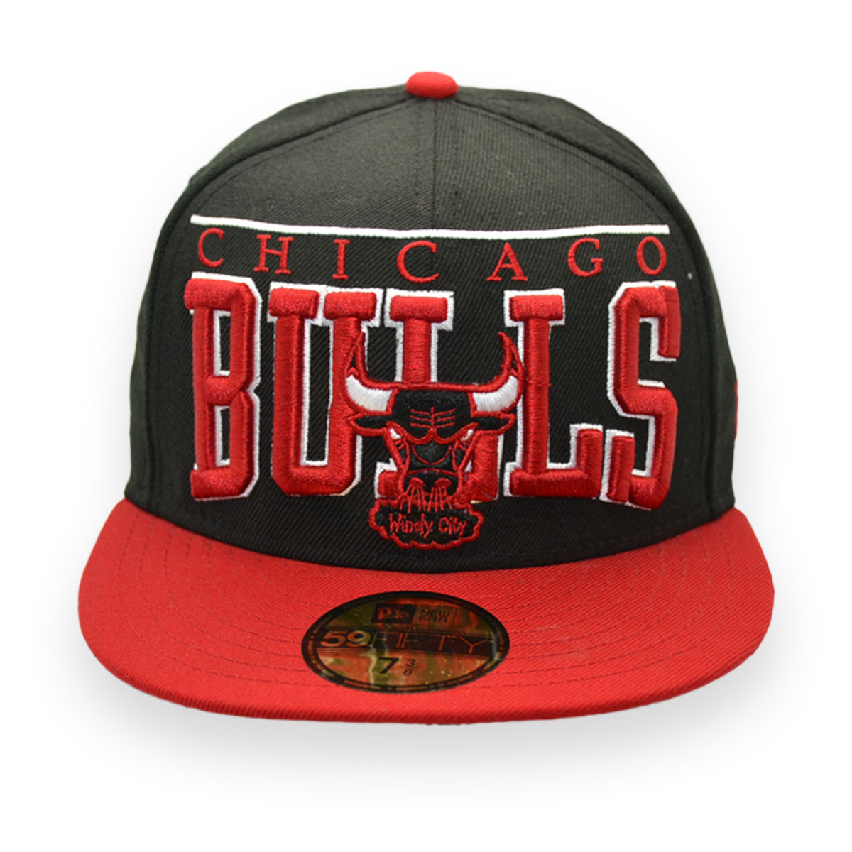 NEW ERA CHICAGO BULLS NBA WINDY CITY 59FIFTY FITTED CAP 7 3 8 (58.7cm) ce85d918614