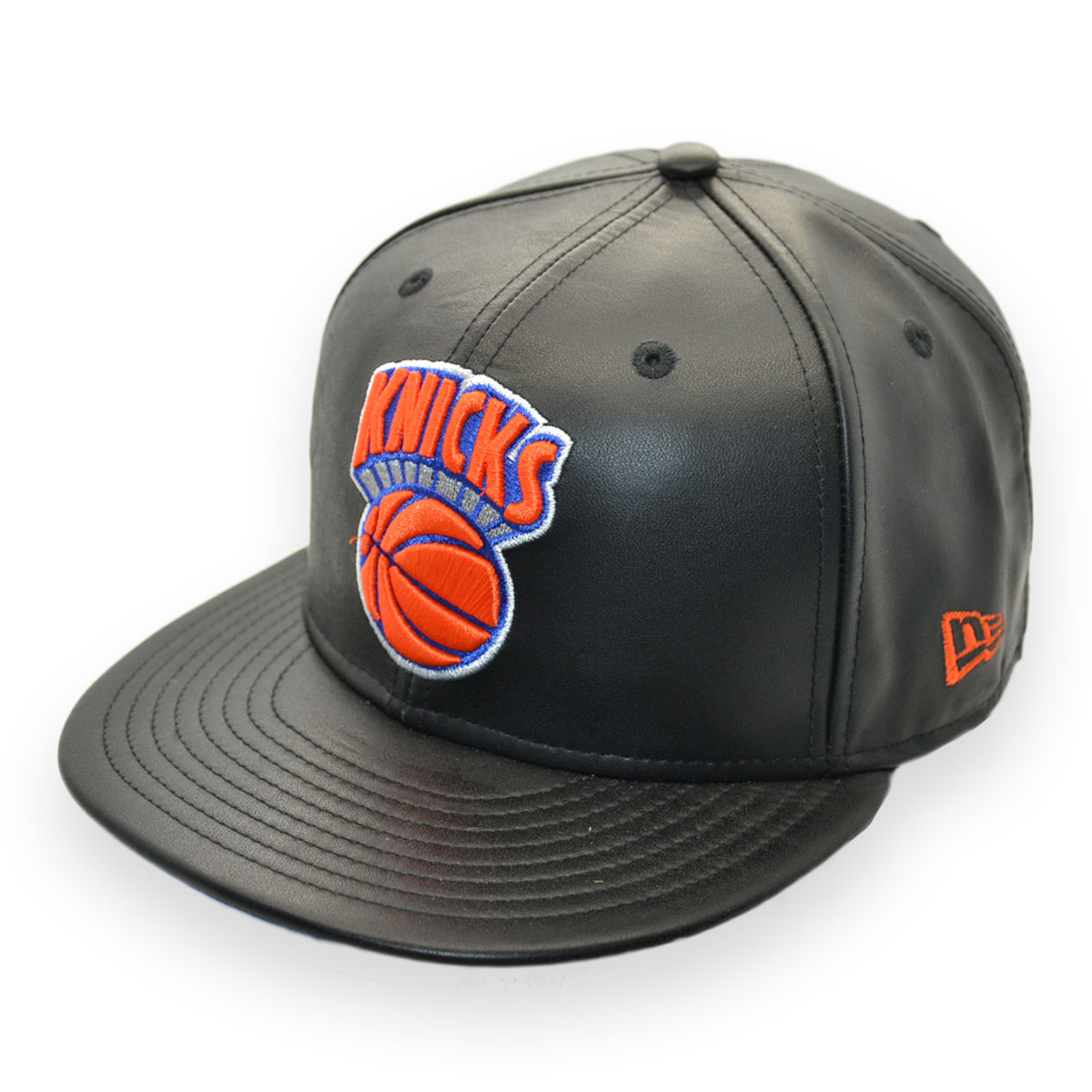 NEW ERA NEW YORK KNICKS NBA BASKETBALL 59FIFTY LEATHER SAMPLE CAP ... dffc2005fcd