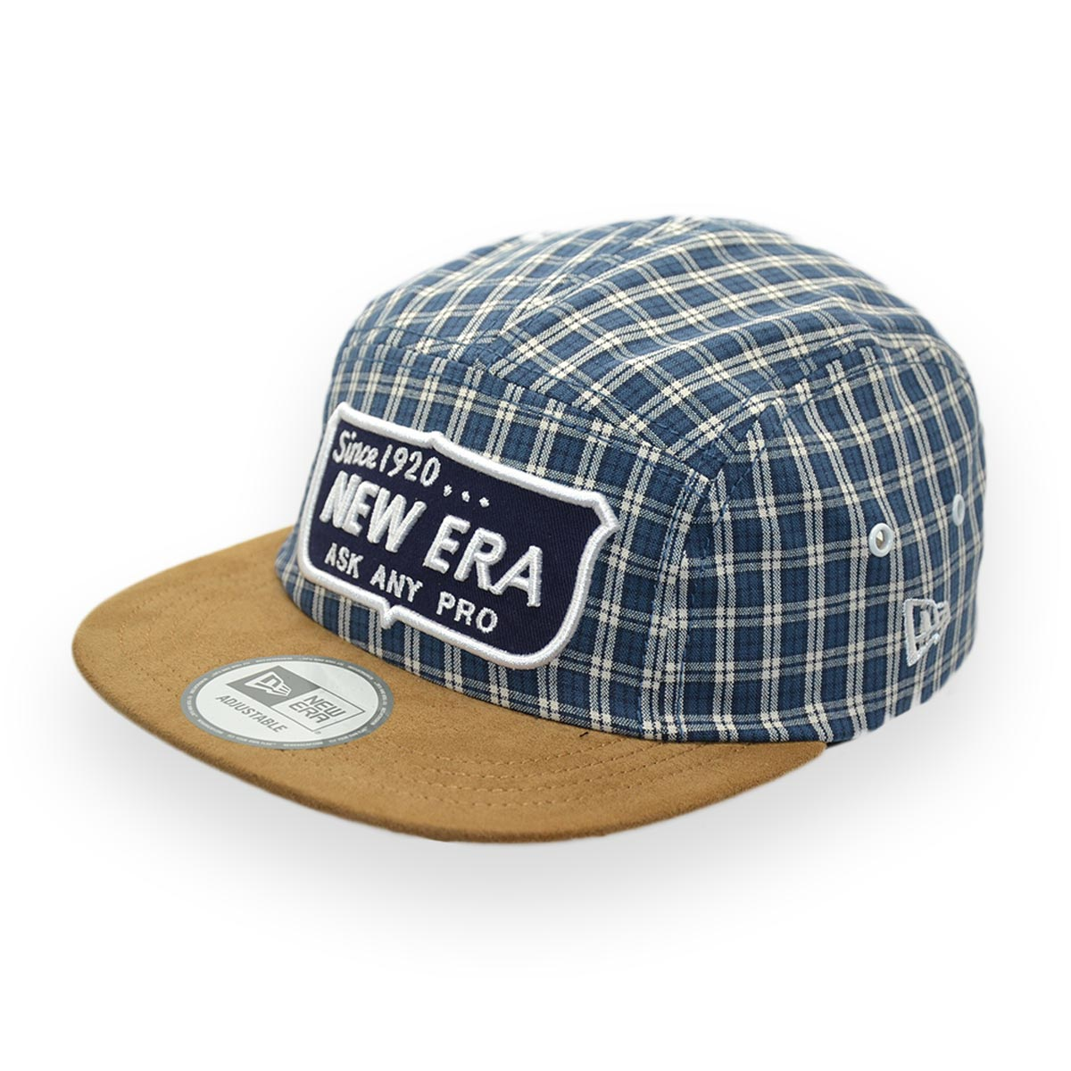 NEW ERA SINCE 1920 ASK ANY PRO TARTAN PLAID BLUE CAP - MyCraze 301d4e6d0d50