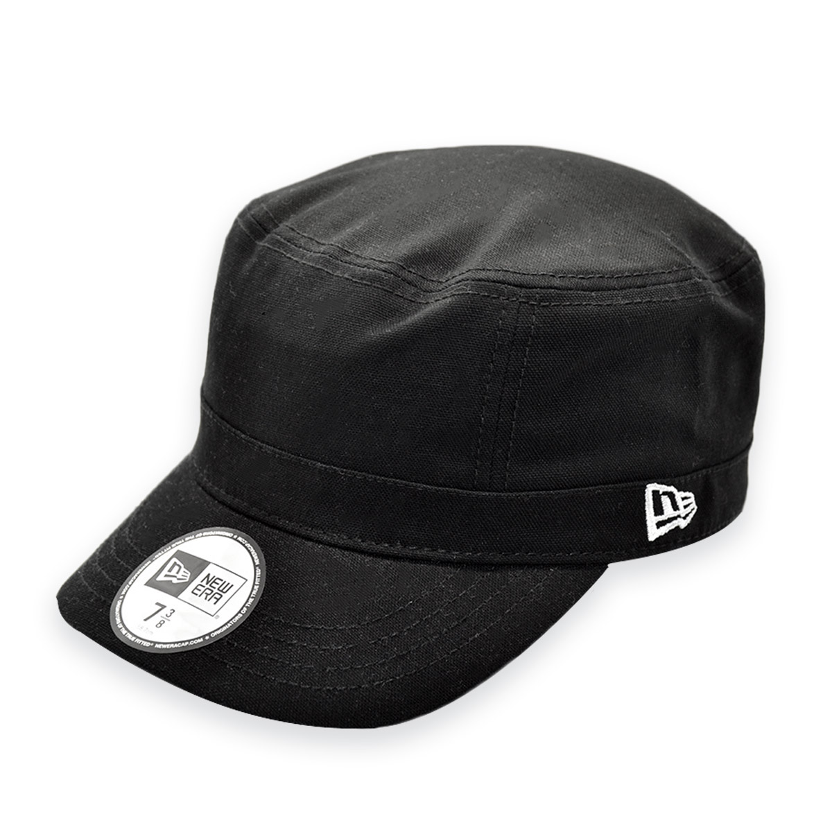 0e1d996f7d4 NEW ERA BLANK BLACK ARMY STYLE FITTED CURVED BRIM CAP HAT 7-3 8 ...