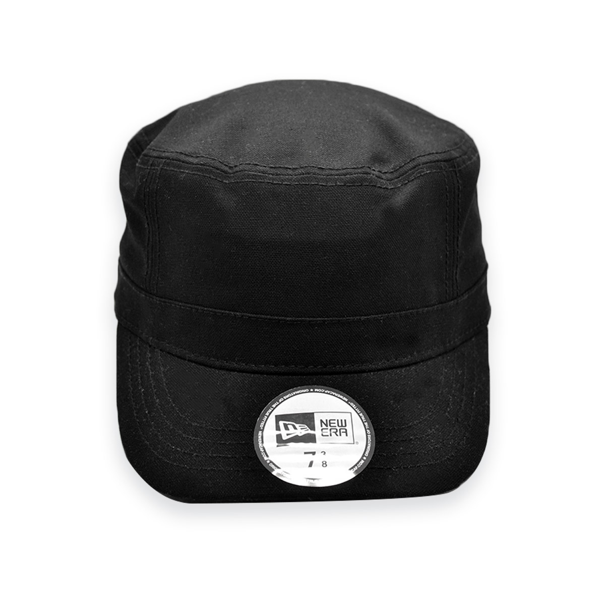 NEW ERA BLANK BLACK ARMY STYLE FITTED CURVED BRIM CAP HAT ...