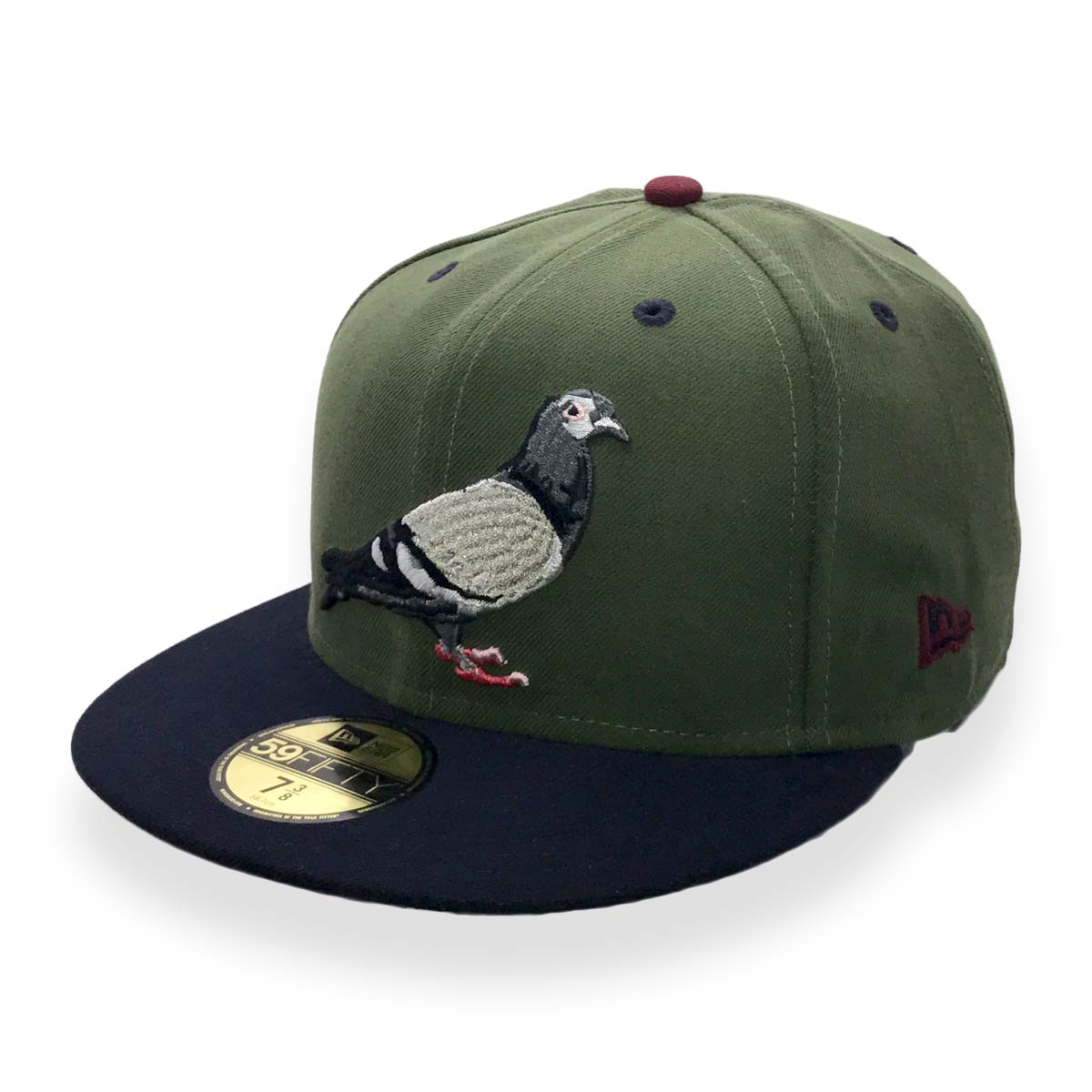 STAPLE X NEW ERA PIGEON 59FIFTY OLIVE MENS FITTED CAP - MyCraze 09c90bd33f2