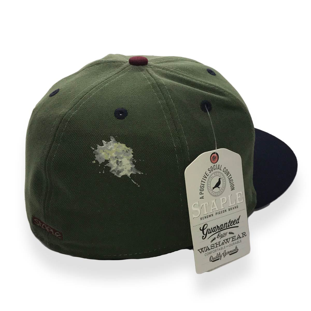 STAPLE X NEW ERA PIGEON 59FIFTY OLIVE MENS FITTED CAP - MyCraze cad520365a05
