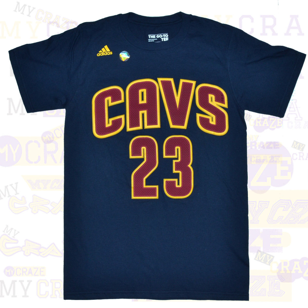 brand new 11583 4599f CLEVELAND CAVALIERS #23 James CAVS Adidas NBA Jersey Navy T-Shirt