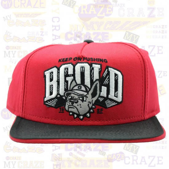 e0457db73a6 Sale Benny Gold Keep On Pushing Bulldog Hat Red Snapback Cap ...