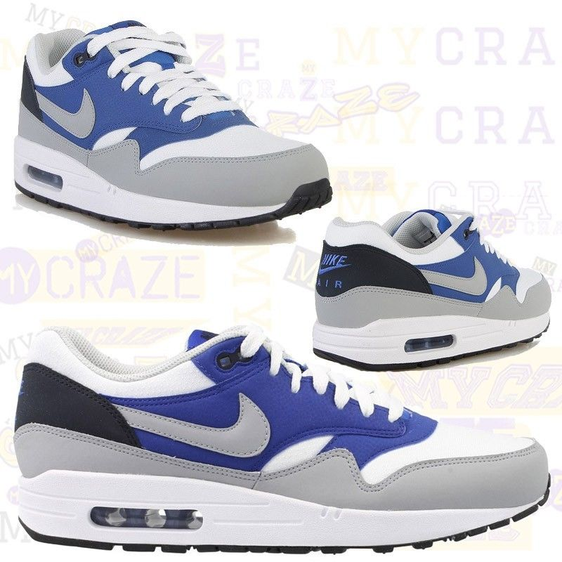 size 40 362fe 13da3 ... spain nike air max 1 essential blue white black mens sneakers shoes  0585c a34e2