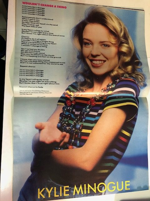 Number One Magazine Vintage 80s 1989 Kylie Minogue Song