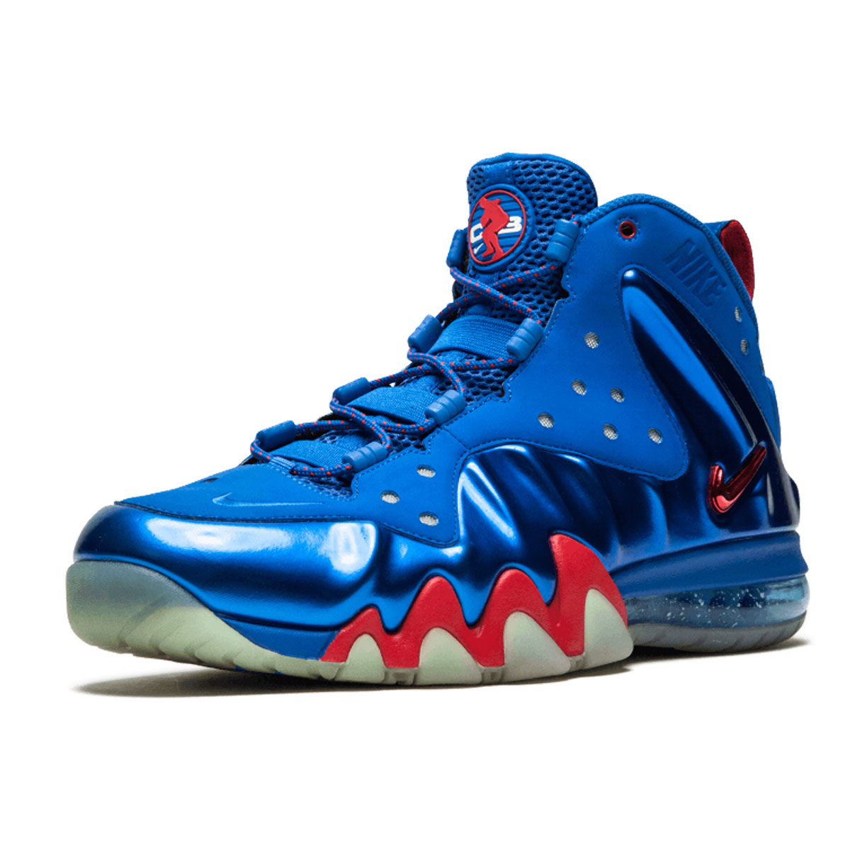 "huge selection of ab917 03bd9 NIKE CHARLES BARKLEY POSITE MAX ""SIXERS"" BASKETBALL SNEAKER 10 US"