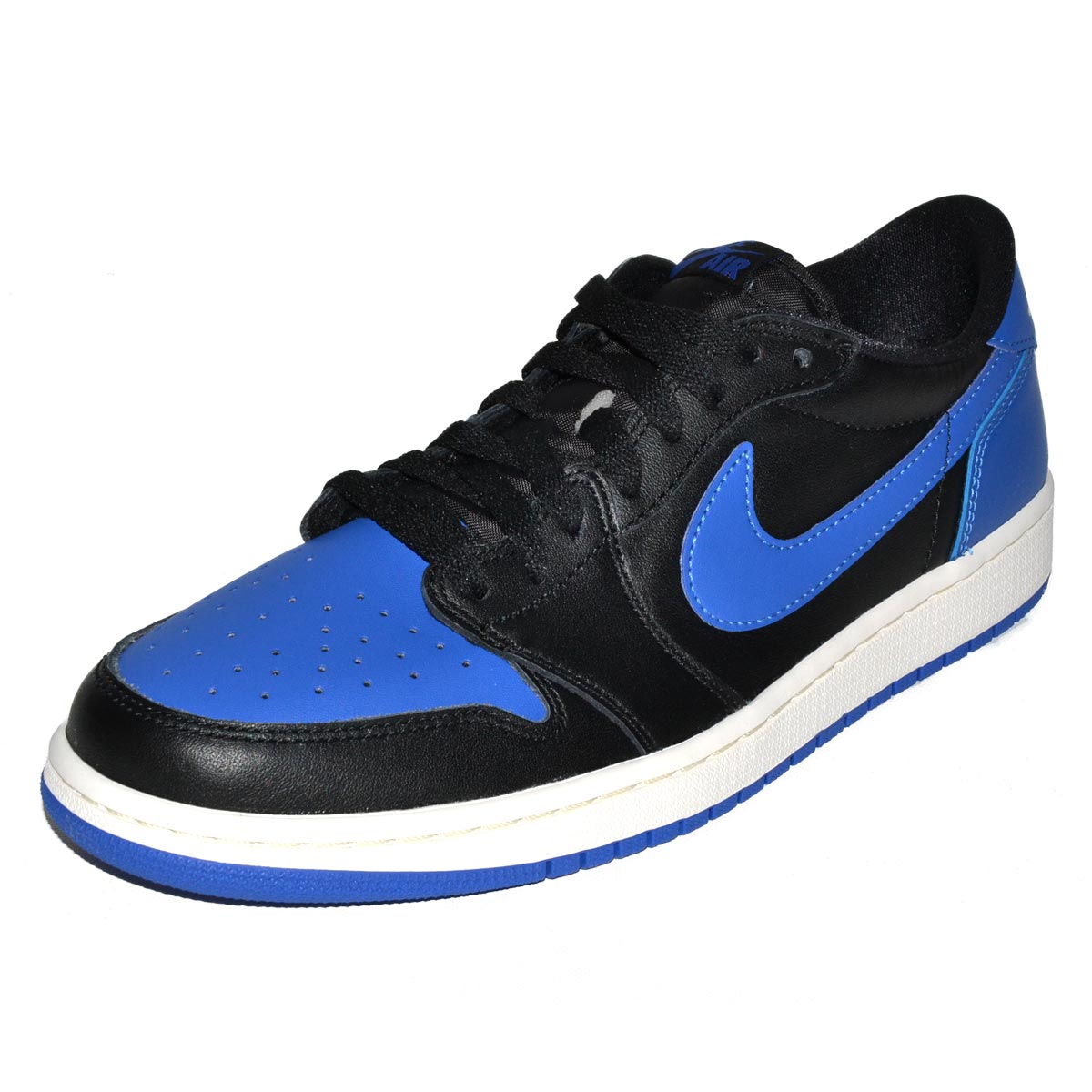 c6706c04478 Details about NIKE AIR JORDAN 1 RETRO LOW OG 705329-004 ROYAL VARSITY BLUE