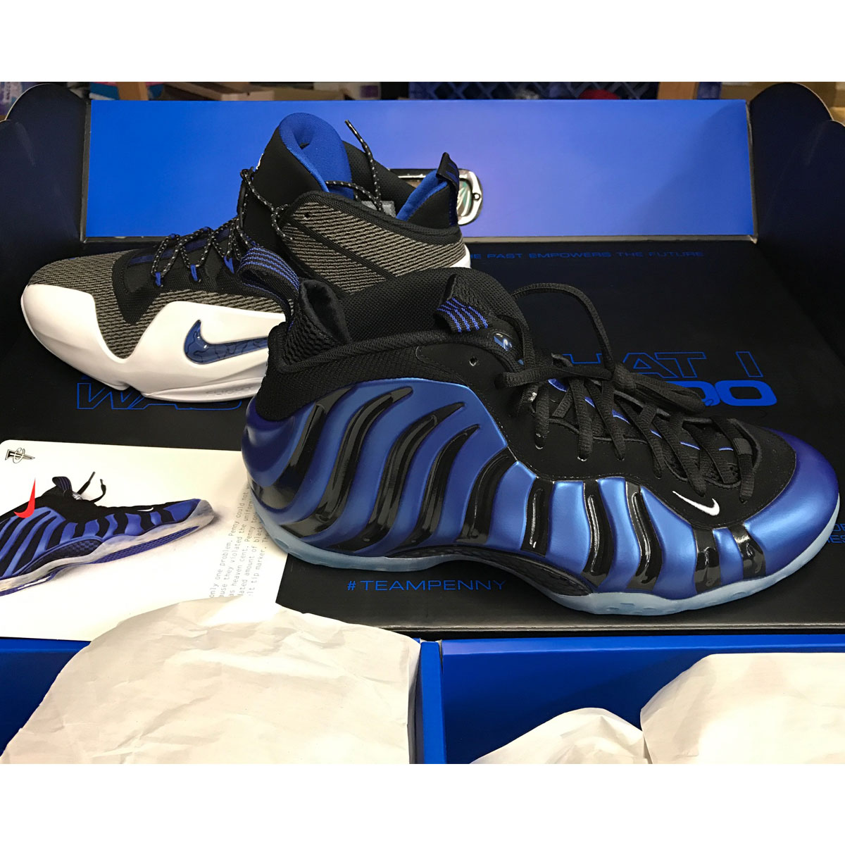 big sale fae8d 4dad1 NIKE PENNY PACK QS FOAMPOSITE BASKETBALL SNEAKERS SIZE 13US 800180 ...
