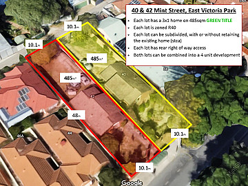 Property in EAST VICTORIA PARK, 40 & 42 Mint Street