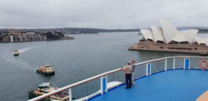 Ovation of the Seas in Sydney Harbour