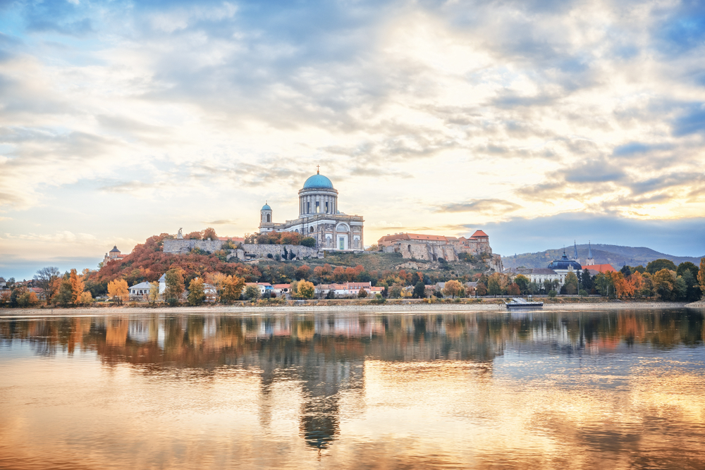 The Basilica of the Blessed Virgin Mary from the Danube river.