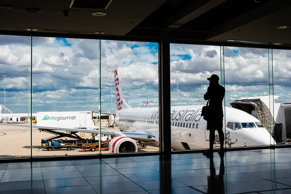 Virgin Australia flight Melbourne Airport.