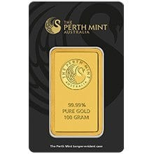 100g-perth-mint-gold-minted-bar