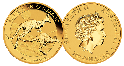 1 oz Gold Kangaroo 2018