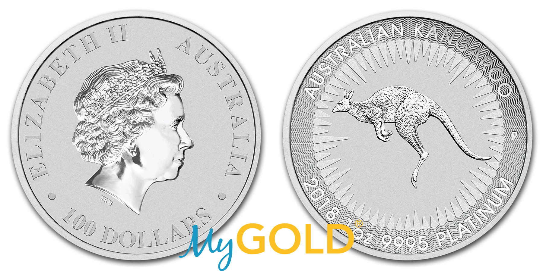 Buy 1oz Perth Mint Platinum Kangaroo 2018 Coin in New Zealand.