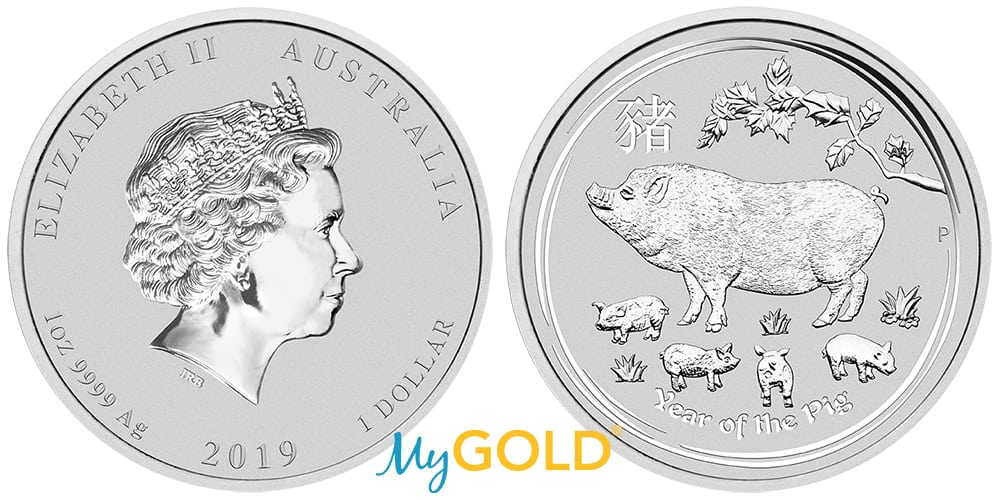 1oz Perth Mint Silver Lunar Year of the Pig 2019 Coin, available now.