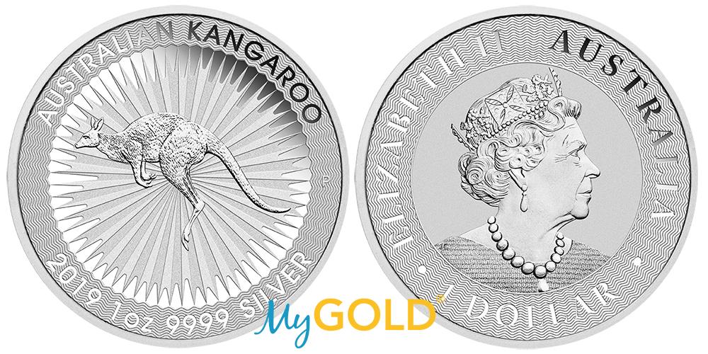 1oz Perth Mint Silver Kangaroo coin 2019