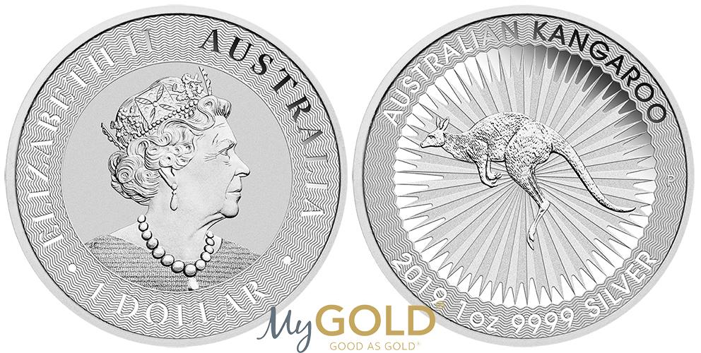 1oz Perth Mint Silver Kangaroo 2019 Coin
