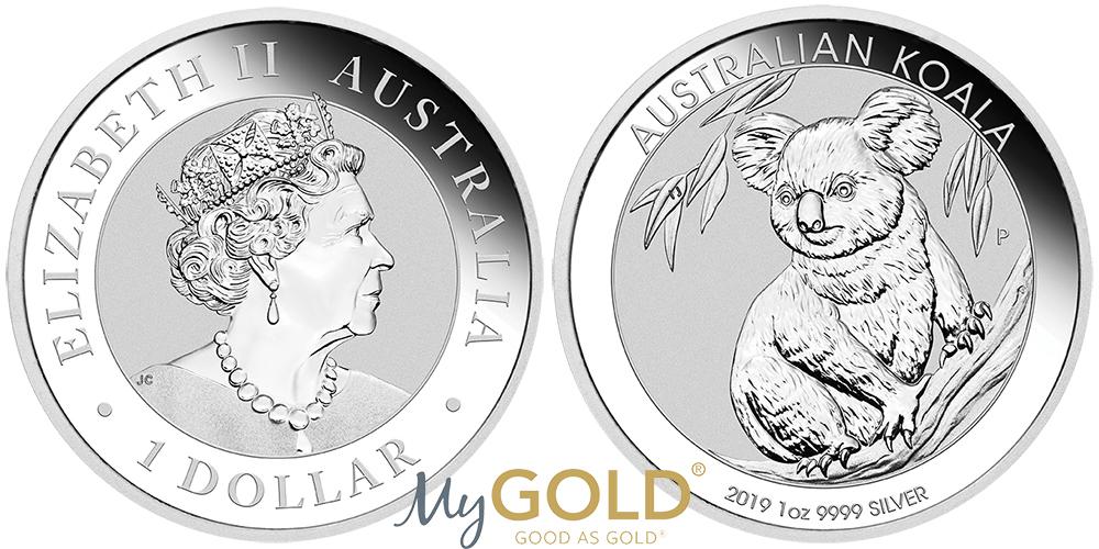 1oz Perth Mint Silver Koala 2019 Coins