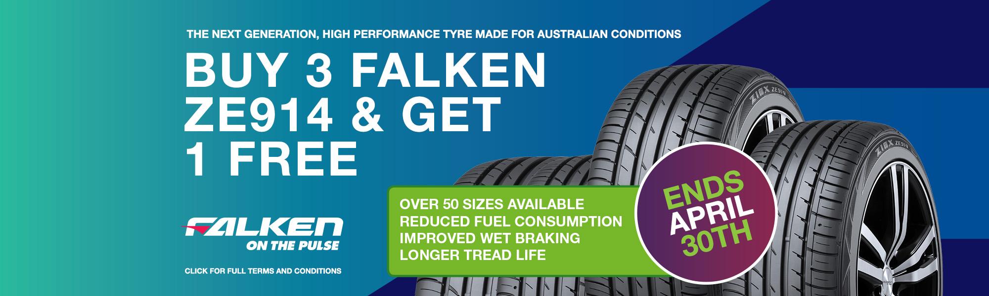 City Discount Tyres Falken 4 for 3 Deal