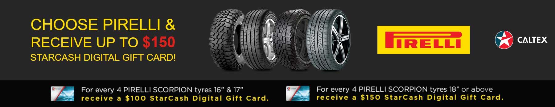 Pirelli Starcash Gift Card