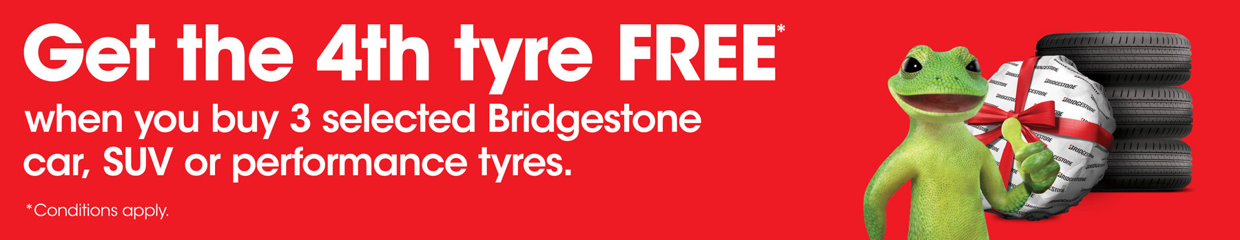 Bridgestone 4th Tyre Free