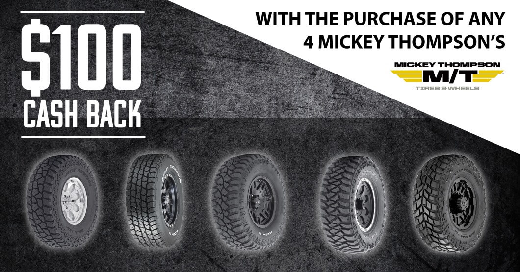 Mickey Thompson special banner
