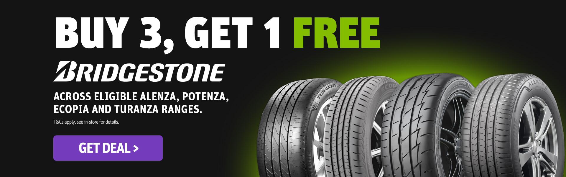 CDT - Bridgestone Buy 3, Get 1 FREE