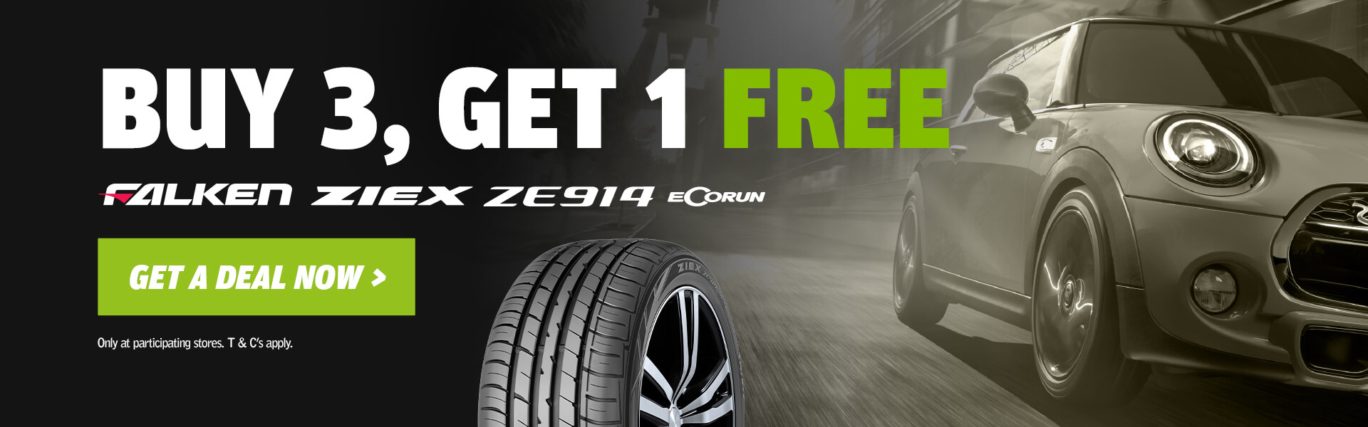 Buy 3 Get 1 Free ZIEX ZE914 Tyres
