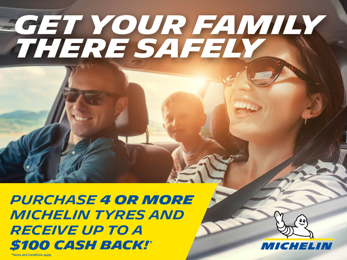 Get up to $100 Cash Back when you buy four tyres from our extensive range of Michelin tyres.