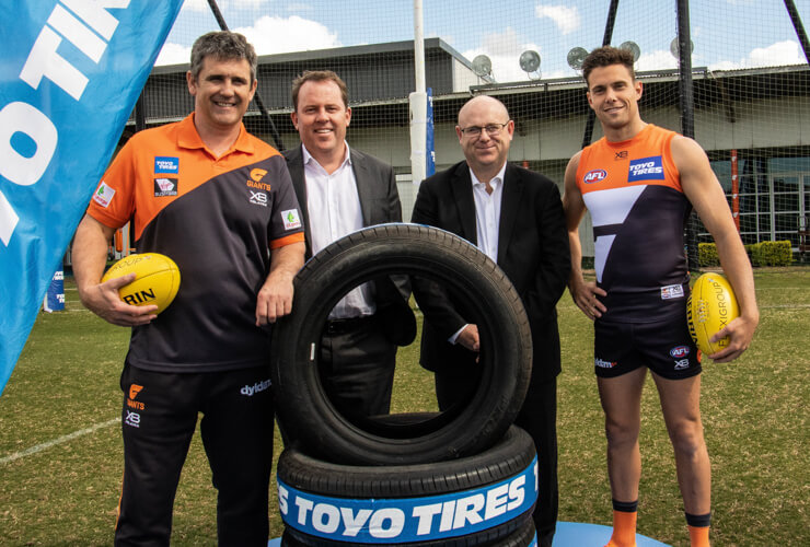 TOYO TIRES EXTENDS WITH GIANTS cover image