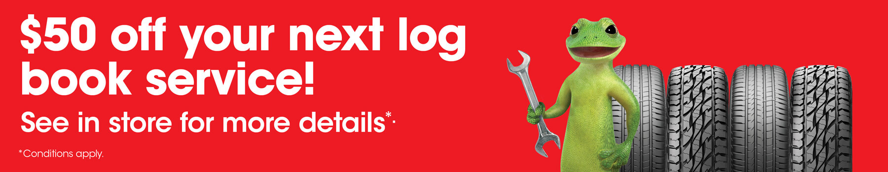 $50 off your next log book service!