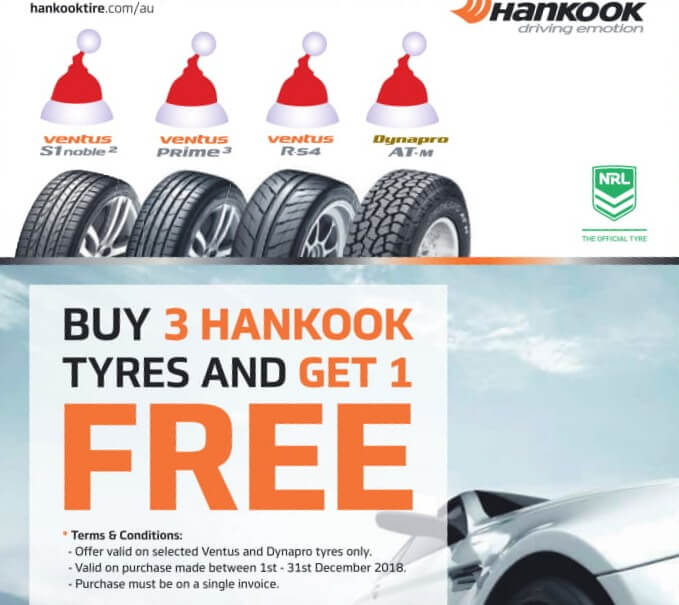 Peel Tyres Hankook December Special four for three