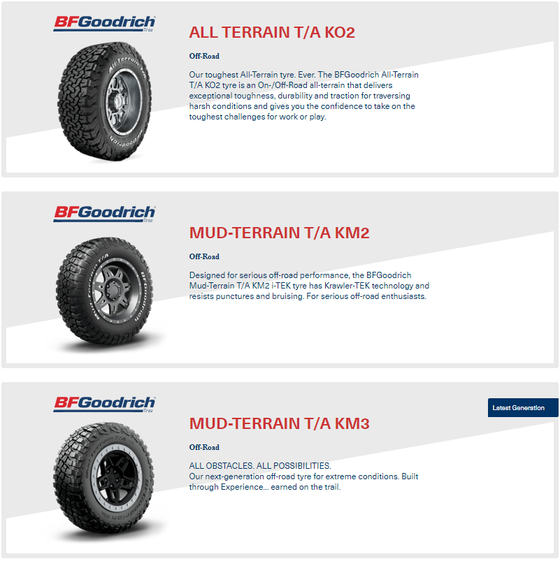 Buy 4 or more BFGoodrich Tyres