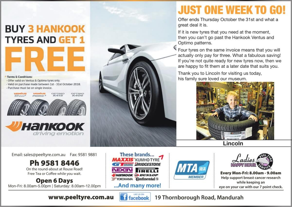 Hankook Tyres October Special Mandurah