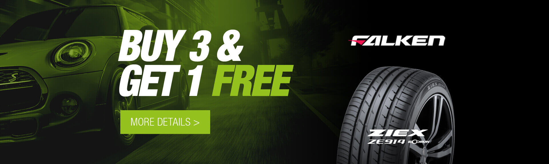 City Discount Falken Buy 3 Get 1 Free Tyres
