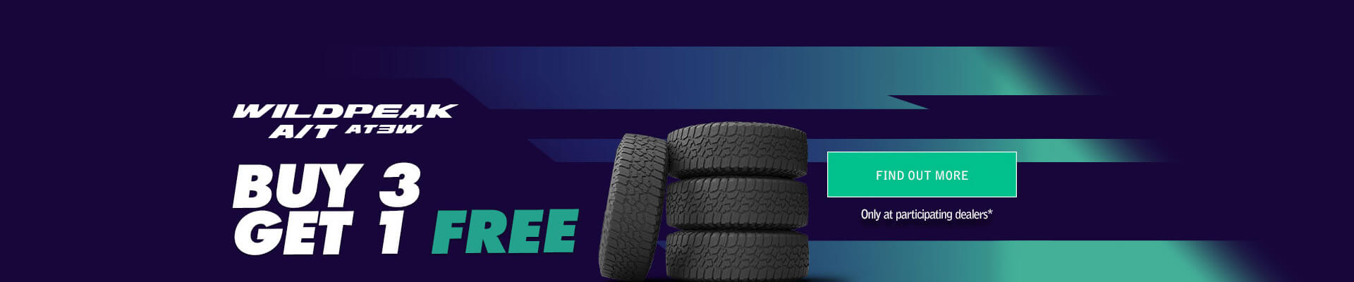 Buy 3 Get 1 Free Wildpeak AT3W Falken Tyres