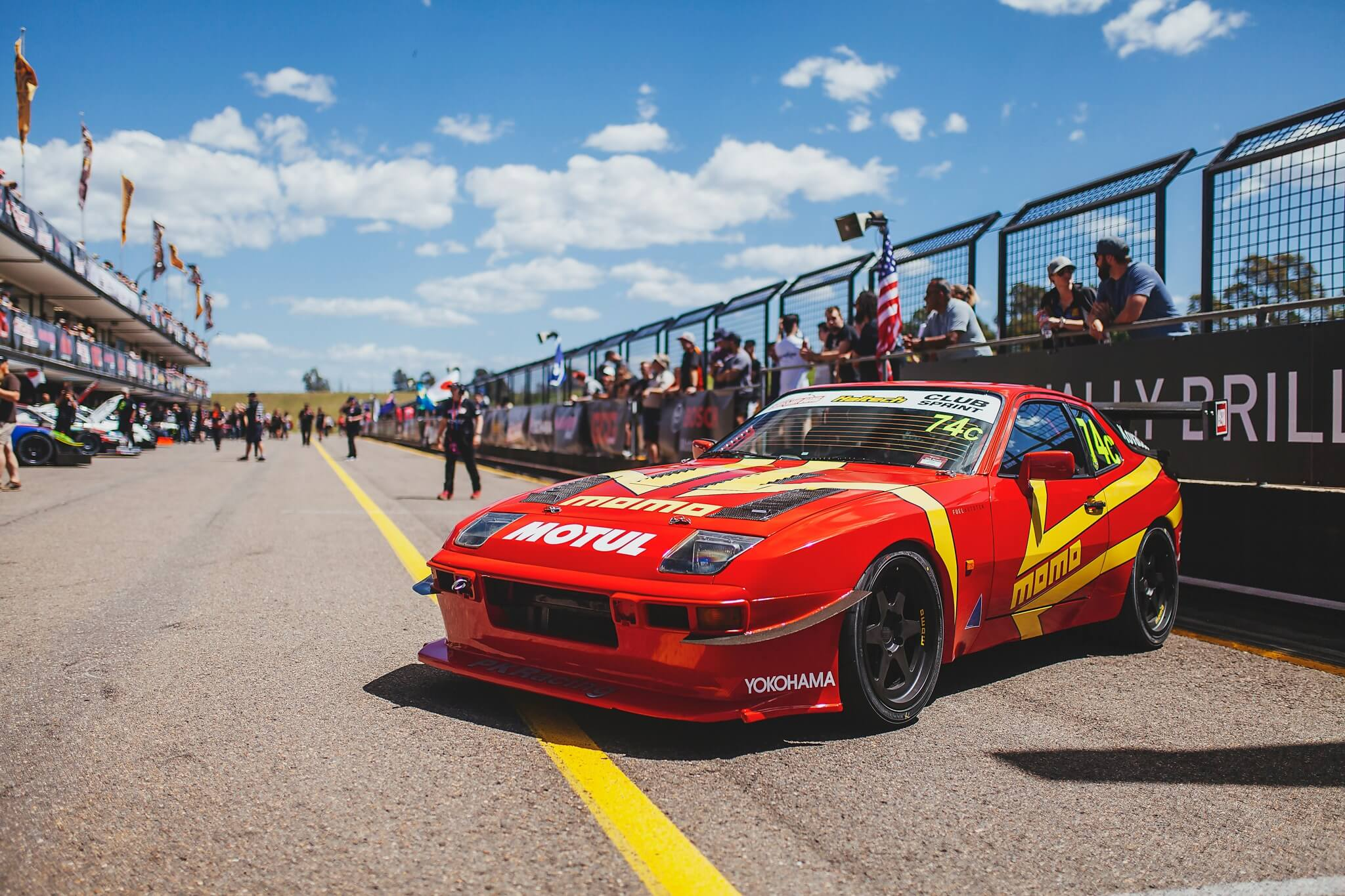PK RACING MOMO PORSCHE 944 HITS THE TRACK AT WTAC
