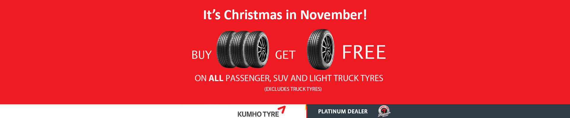 Buy 3 Get 1 Free in November