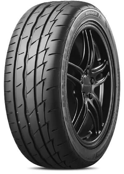 Bridgestone Potenza high performance tyre showing tyre tread pattern