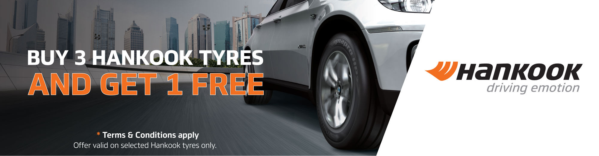 Buy 3 Hankook Tyres And Get 1 Free