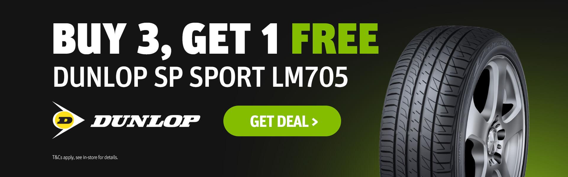 Dunlop SP SPORT LM705 - Buy 3 Get 1 FREE