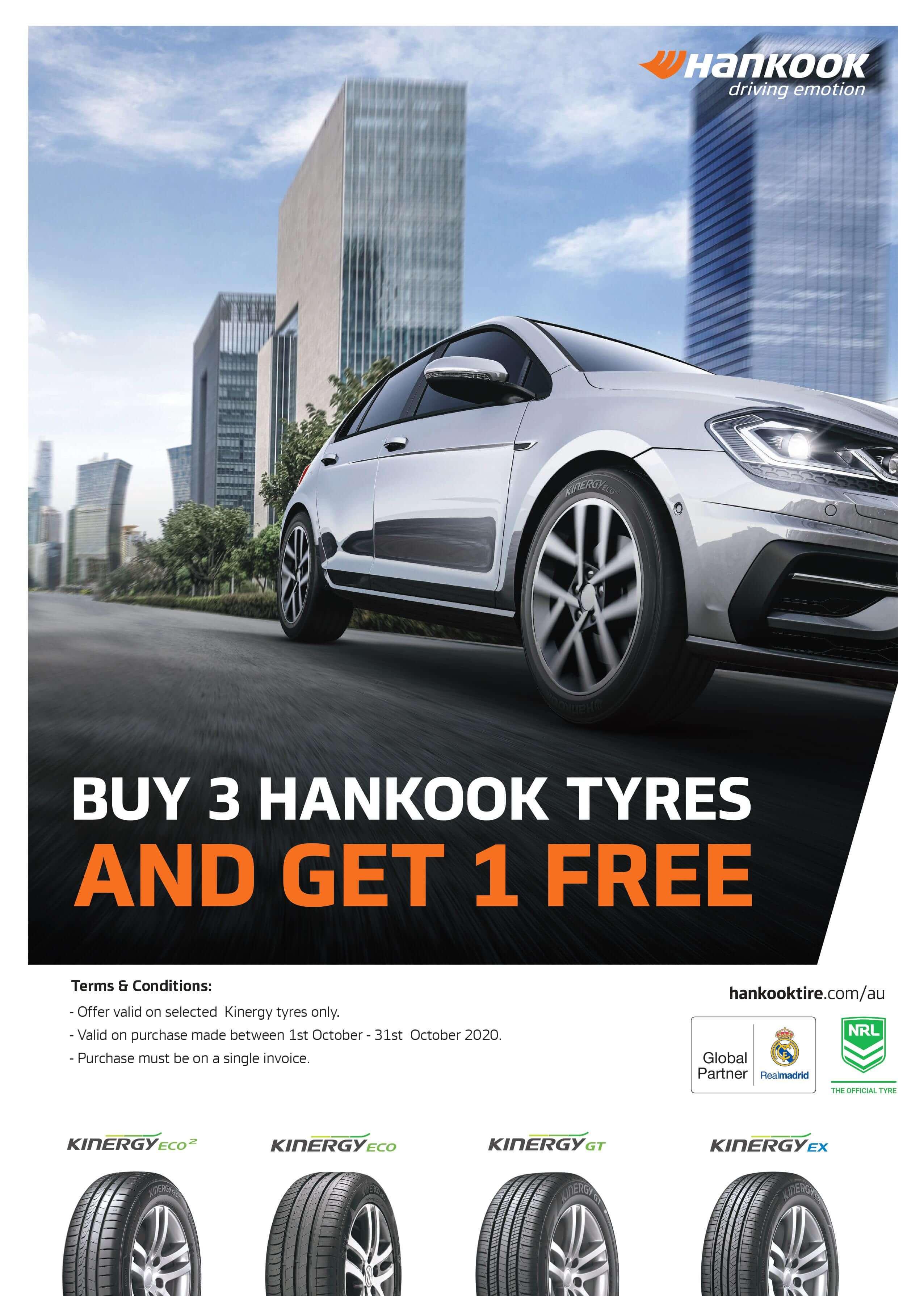Hankook Promotion Buy 3 get 1 Free