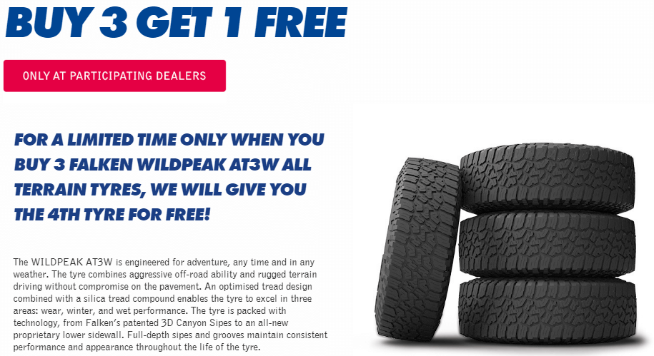 Limited time only Falken Wildpeak AT3W