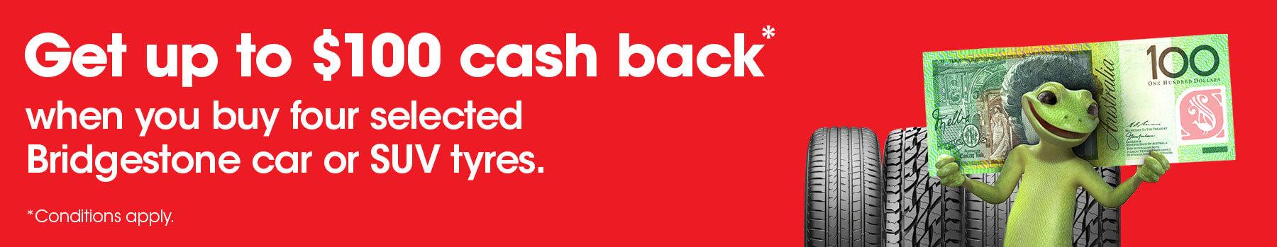 Get up to $100 cash back