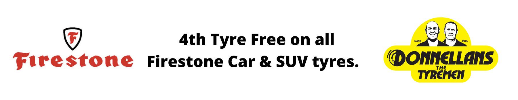 Donnellans - 4th Tyre Free on all Firestone Car & SUV